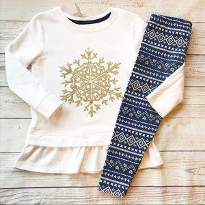 {Oshkosh} Snowflake Holiday Outfit